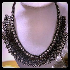 Stella & Dot PALLADIAN Silver/Black  Necklace
